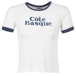 textil Dam T-shirts Loreak Mendian COTE BASQUE Benvit / Marin