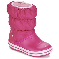 Skor Flickor Vinterstövlar Crocs WINTER PUFF BOOT KIDS Rosa