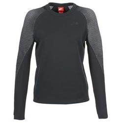 textil Dam Sweatshirts Nike TECH FLEECE CREW Svart