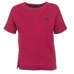 textil Dam Sweatshirts Nike TECH FLEECE CREW Bordeaux