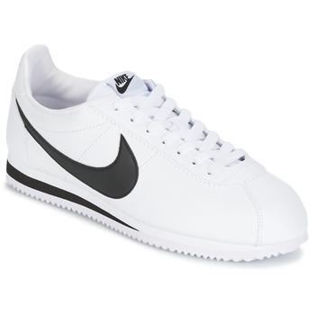 Skor Herr Sneakers Nike CLASSIC CORTEZ LEATHER Vit / Svart