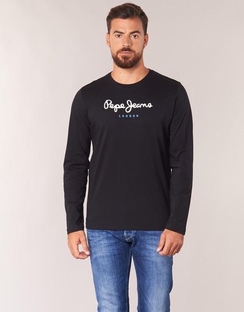 textil Herr Långärmade T-shirts Pepe jeans EGGO LONG Svart