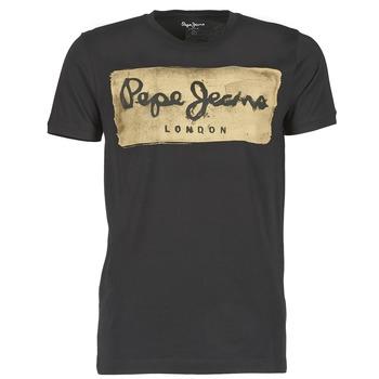 textil Herr T-shirts Pepe jeans CHARING Svart