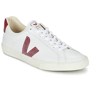 Skor Sneakers Veja ESPLAR Vit / Röd
