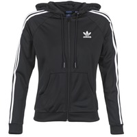 textil Dam Sweatjackets adidas Originals SLIM FZ HOODIE Svart
