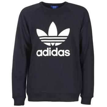 textil Herr Sweatshirts adidas Originals TREFOIL CREW Svart