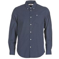 textil Herr Långärmade skjortor Vicomte A. JANOUPE Marin