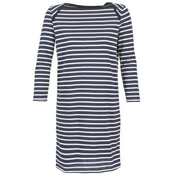 textil Dam Korta klänningar Petit Bateau EREMATE Marin / Vit