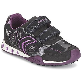 Skor Flick Sneakers Geox NEW JOCKER GIRL Svart / Rosa