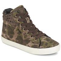Skor Flickor Höga sneakers Geox KIWI GIRL Grön
