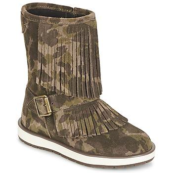 Skor Flickor Boots Geox NOHA Grön