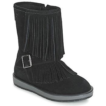 Skor Flickor Boots Geox NOHA Svart