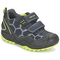 Skor Pojk Sneakers Geox NEW SAVAGE BOY Blå / Gul
