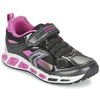 Skor Flick Sneakers Geox SHUTTLE GIRL Svart / Rosa