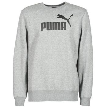 textil Herr Sweatshirts Puma ESS CREW SWEAT FL Grå