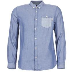 textil Herr Långärmade skjortor Tom Tailor INIDULLE Blå