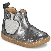 Skor Flick Boots Shoo Pom BOUBA APPLE Silver