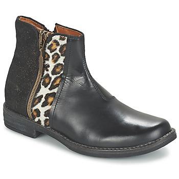 Skor Flickor Boots Shwik TIJUANA WILD Svart / Leopard