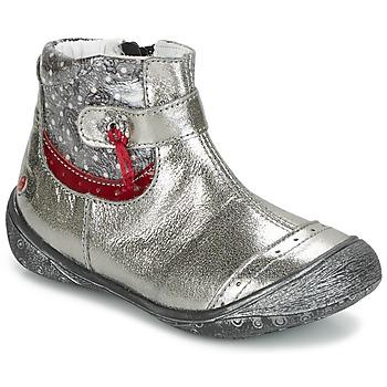 Skor Flickor Boots GBB NYMPHE Grå / Mönstrad