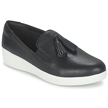 Skor Dam Slip-on-skor FitFlop TASSEL SUPERSKATE Svart