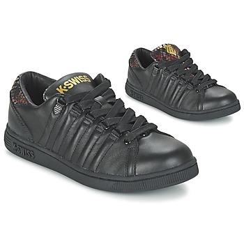 Skor Dam Sneakers K-Swiss LOZAN TONGUE TWISTER Svart / Guldfärgad