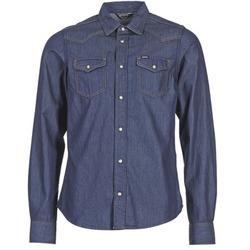 textil Herr Långärmade skjortor Diesel NEW SONORA Blå