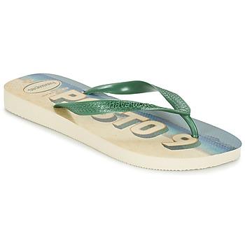 Skor Herr Flip-flops Havaianas POSTO CODE Grön / Blå
