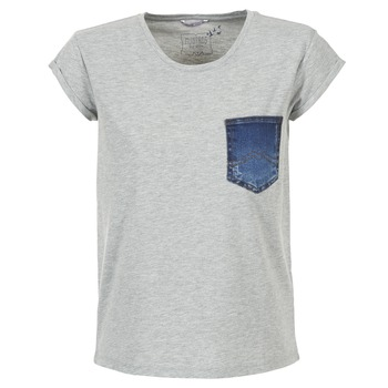 textil Dam T-shirts Mustang SLV DENIM POCKET Grå