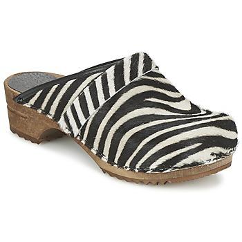Skor Dam Träskor Sanita CAROLINE Zebra