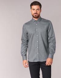 textil Herr Långärmade skjortor Casual Attitude FOLI Grå