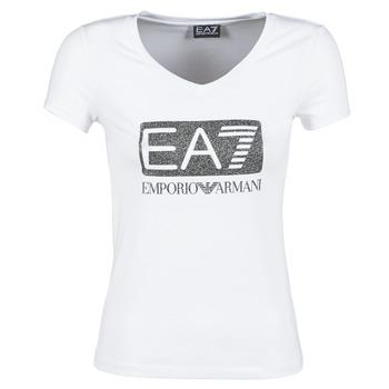 textil Dam T-shirts Emporio Armani EA7 FOUNAROLA Vit
