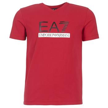 textil Herr T-shirts Emporio Armani EA7 MOFRAGO Röd