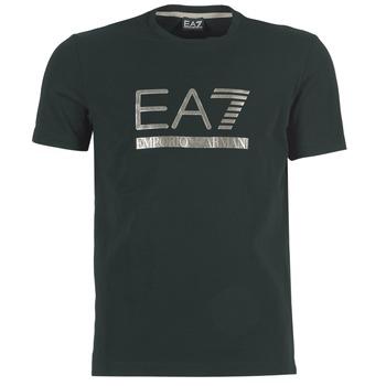 textil Herr T-shirts Emporio Armani EA7 MAGGAROL Svart