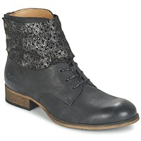 Skor Dam Boots Kickers PUNKYZIP Svart / Blank