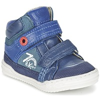 Skor Pojk Höga sneakers Kickers JINJINU Blå