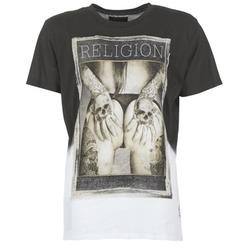 textil Herr T-shirts Religion GRABBING Vit / Svart