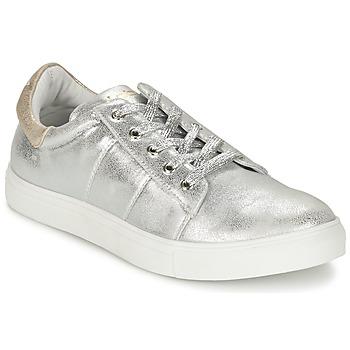 Skor Dam Sneakers Les P'tites Bombes BABOU Silverfärgad