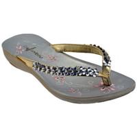 Skor Dam Flip-flops Inblu  Guldfärgad