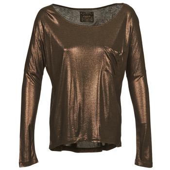 textil Dam Långärmade T-shirts Chipie NINON Guldfärgad