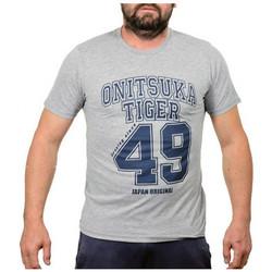 textil Herr T-shirts Onitsuka Tiger  Grå