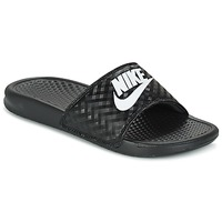 Skor Dam Flipflops Nike BENASSI JUST DO IT W Svart / Vit
