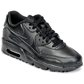 Skor Barn Sneakers Nike AIR MAX 90 LEATHER GRADE SCHOOL Svart