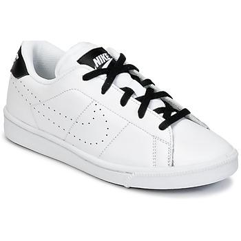 Skor Pojk Sneakers Nike TENNIS CLASSIC PREMIUM PRESCHOOL Vit / Svart