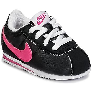 Skor Flick Sneakers Nike CORTEZ NYLON TODDLER Svart / Rosa