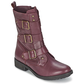 Skor Dam Boots Ikks RANGER-COLLECTOR-BOUCLE Bordeaux
