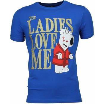 textil Herr T-shirts Local Fanatic The Ladies Love Me Print Blå