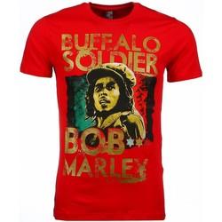 textil Herr T-shirts Local Fanatic Bob Marley Buffalo Soldier Röd