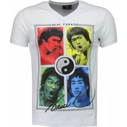 textil Herr T-shirts Local Fanatic Bruce Lee Ying Yang Vit