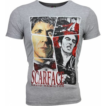 textil Herr T-shirts Local Fanatic Scarface Frame Print Grå
