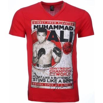 textil Herr T-shirts Local Fanatic Muhammad Ali Print Rood Röd